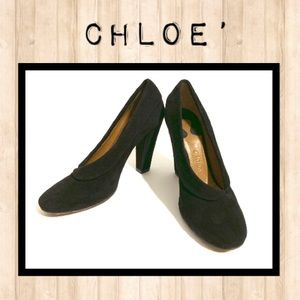🌻Chloe' Black Suede Pumps!